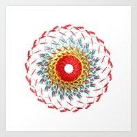 Radial Five Art Print