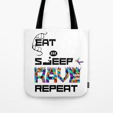 Eat Sleep RAVE Repeat Tote Bag