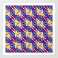 The Nuclei - Colorway 2 Art Print