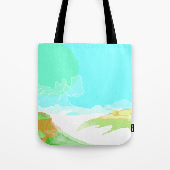 Surrealist Pixelated Landscape #2 Tote Bag
