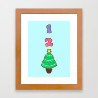 Count To Christmas Framed Art Print