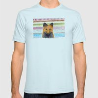 Merry Foxmas! Mens Fitted Tee Light Blue SMALL
