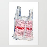 Spank You Very Much Art Print