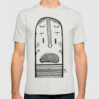 screamer Mens Fitted Tee Silver SMALL