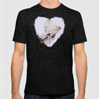 Delicate  - JUSTART © Mens Fitted Tee Tri-Black SMALL