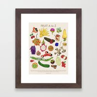 Bizarro Fruit - A to Z poster Framed Art Print