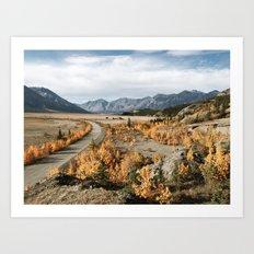 Fall Yukon Valley Art Print
