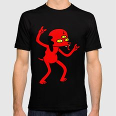 Satan's Little Helper SMALL Mens Fitted Tee Black