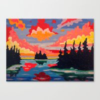 Northern Sunset Surreal  Canvas Print