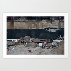 Under the Boardwalk, After Sandy Art Print