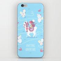 Knitting Adventure iPhone & iPod Skin
