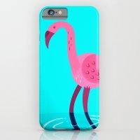 Flamingo illustration  iPhone 6 Slim Case