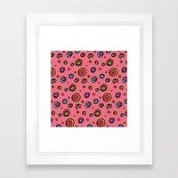 DOTTIE PINK Framed Art Print