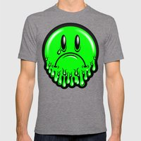 Slimey - neon green Mens Fitted Tee Tri-Grey SMALL