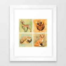 Woodland Set Framed Art Print