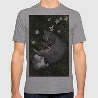 Sleep [A CAT AND A KITTEN] Mens Fitted Tee Athletic Grey SMALL