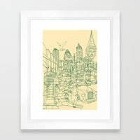 London! Cream Framed Art Print