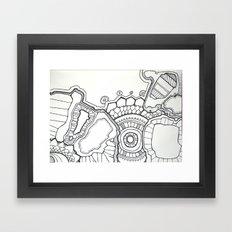 pen and ink hallucination Framed Art Print