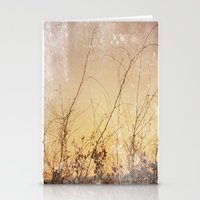 Sea Plants (gold) Stationery Cards