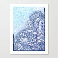 Shroom City Canvas Print