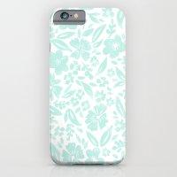 Stamp Floral Pattern iPhone 6 Slim Case