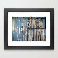 the barn door  Framed Art Print