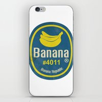 Banana Sticker On White iPhone & iPod Skin