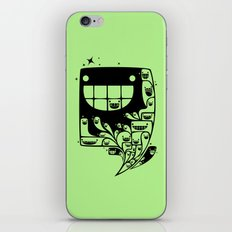 Happy Inside - 1-Bit Oddity - Black Version iPhone & iPod Skin