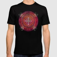 Root Chakra Black Mens Fitted Tee SMALL