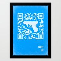 QR Gun Art Print