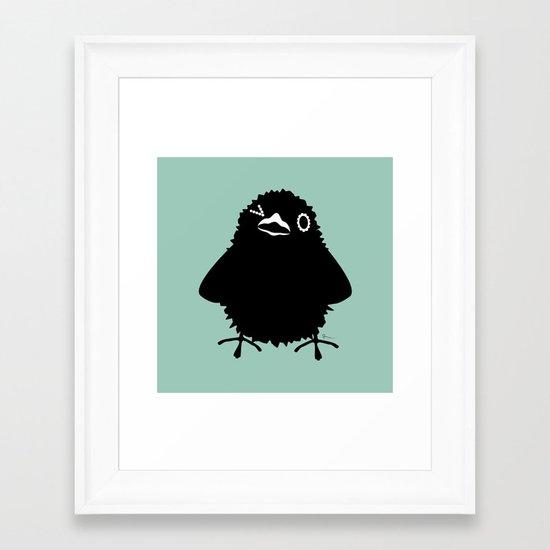 Baby Raven, Wink Framed Art Print
