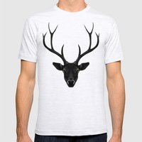 The Black Deer Mens Fitted Tee Ash Grey SMALL
