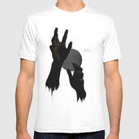 Hand's on the Moon Mens Fitted Tee White SMALL