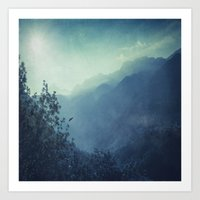 Mountain Blues Art Print