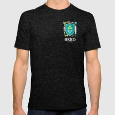 Hero of Time Mens Fitted Tee Tri-Black SMALL