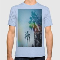 Palm Trees Of Barcelona Mens Fitted Tee Athletic Blue SMALL