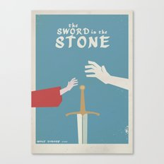 The Sword in the Stone - Walt Disney Minimal Movie Poster Canvas Print