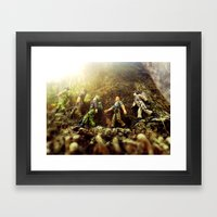 The March Framed Art Print