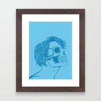 Skull Girl 6 Framed Art Print