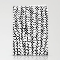Hand Knitted Loops Stationery Cards