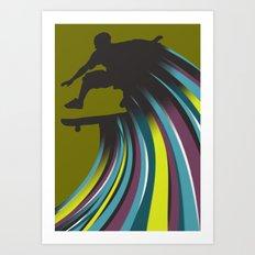 Skater Dude Art Print