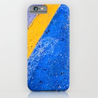 Abstract Blue and Yellow iPhone 6 Slim Case