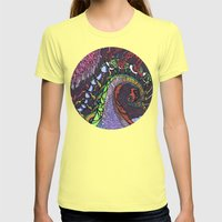 Sea Serpent Womens Fitted Tee Lemon SMALL