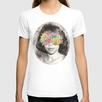 Her Point Of View Womens Fitted Tee White SMALL