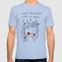 Good thoughts need to grow Mens Fitted Tee Athletic Blue SMALL