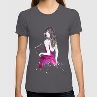 Don't Look Now Womens Fitted Tee Asphalt SMALL