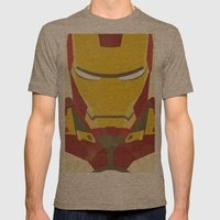 IRON MAN Mens Fitted Tee Tri-Coffee SMALL