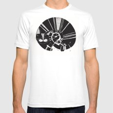 cats life: sleeping SMALL White Mens Fitted Tee