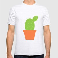 #7 Cactus Mens Fitted Tee Ash Grey SMALL