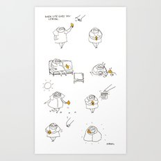 when life gives you lemon  Art Print